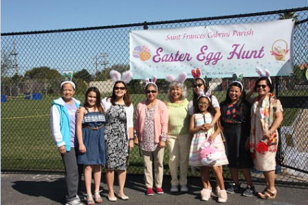 Easter Egg Hunt Organizers pose for the camera.